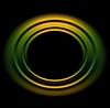 Bright orange green circles logo background