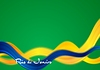 Vector clipart: Brazil colors abstract smooth wavy background