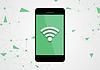 Wifi-Verbindung mit dem Handy Tech-Hintergrund