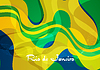 Abstract concept wavy pattern Brazil background