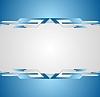 Vector clipart: Blue shiny hi-tech motion flyer background