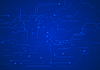 Vector clipart: Dark blue circuit board technology background