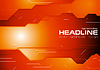 Vector clipart: Dark orange hi-tech corporate background