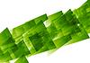 Vector clipart: Green concept tech geometric background