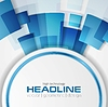 Vector clipart: Blue shiny hi-tech background layout