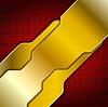 Векторный клипарт: Яркий абстрактный золотой дизайн