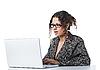 ID 3023072 | Schöne Geschäftsfrau liest schlechte Nachricht | Foto mit hoher Auflösung | CLIPARTO