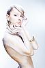 Glamourous white woman, high key | Stock Foto
