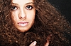 Girl with curly hair  | Stock Foto