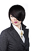 Photo 300 DPI: Young woman with fashion haircut