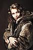 Romantic girl wearing furs | Stock Foto