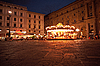 Фото 300 DPI: Ночная площадь во Флоренции