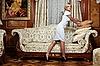 매력적인 메이드 고급 호텔 소파 만들기 | Stock Foto