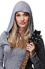 젊은 여자가 기타를 들고   Stock Foto