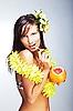 ID 3024309 | 하와이 액세서리와 함께 아름 다운 이국적인 소녀 | 높은 해상도 사진 | CLIPARTO