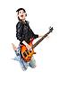 Фото 300 DPI: рок-н-ролл девушка с гитарой в прыжке