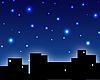 City skyline in the night | Stock Illustration