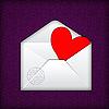Photo 300 DPI: Heart in an envelope