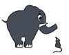 Photo 300 DPI: Elephant and Mouse