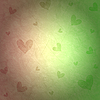 Green and pink background with hearts | Stock Illustration