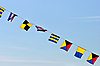Flags on blue sky | Stock Foto