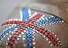 Photo 300 DPI: British flag made of rhinestones