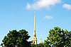 Spire of Peter and Paul Fortress in the sky | Stock Foto