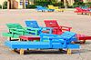 ID 3103814 | Multi-kolorowe leżaki na plaży | Foto stockowe wysokiej rozdzielczości | KLIPARTO