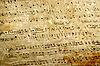 旧乐谱   光栅插图