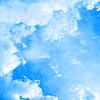 阳光明媚的蓝天 | 免版税照片