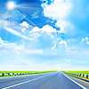Road and sunny sky | Stock Foto