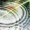 Zielone kółka na wodzie | Stock Foto