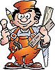 Vector clipart: Carpenter Handyman