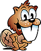 Vector clipart: Happy Beaver