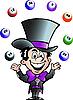 Vector clipart: Juggling Bingo Man