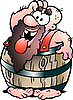 Vector clipart: Barrel Man
