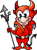 Vector clipart: Little Red Devil Boy