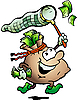 Vector clipart: Money Sack Hunting Cash