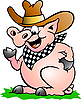 Pig Chef that Welcomes | Stock Vector Graphics