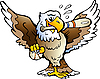 Vector clipart: Eagle Playing Baseball