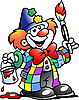 Vector clipart: Painting Clown
