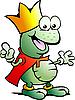 Векторный клипарт: счастливая лягушка-принц