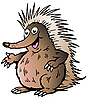 Vector clipart: Echidna Cartoon
