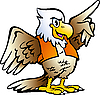 Vector clipart: Pointing Eagle