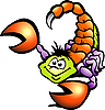 Vector clipart: Danger Scorpion Cartoon