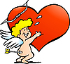 Vector clipart: Happy Amor Angel Boy
