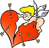 Vector clipart: Angry Amor Angel Boy