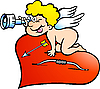 Vector clipart: Amor Angel Boy looking for