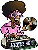 Vector clipart: Disco DJ