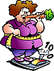 Vector clipart: Fat Lady